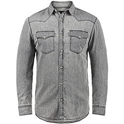 Produkt Paulus - Camisa de Jeans para Hombres, tamaño:XL, Color:Light Grey Denim