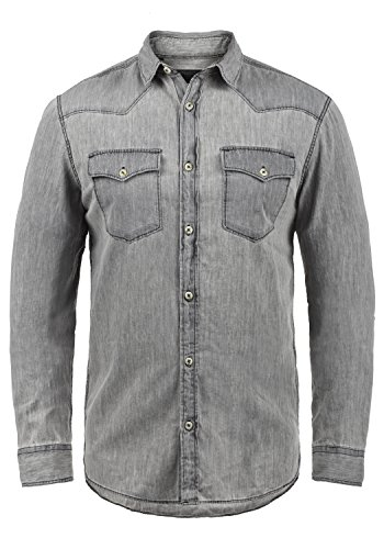 Produkt Paulus - Camisa de Jeans para Hombres, tamaño:S, Color:Light Grey Denim