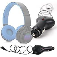 DURAGADGET Cargador Para Mechero Del Coche Con Cable Retráctil Para Auriculares Philips SHB3060WT/00 /