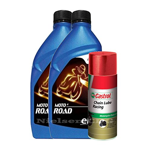 elf-moto-4-road-10w40-motorcycle-engine-oil-2x1l2l-castrol-chain-lube-racing-400ml