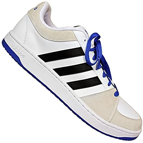 Adidas VlNeo Cerceaux Lo II Chaussures De Sport Basket Baskets blanc? Homme - blanc, Homme, 46 2/3 EU