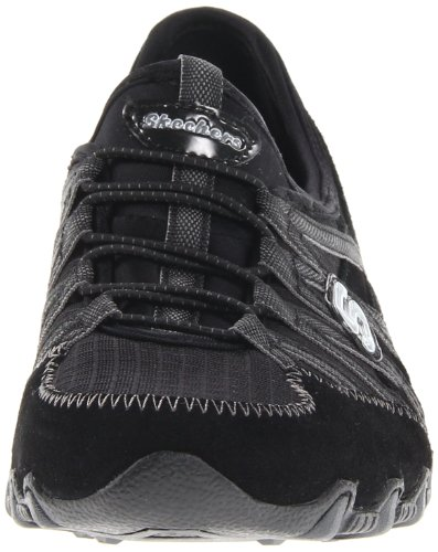 Skechers  BikersVerified, basket femme Noir - Black/Charcoal