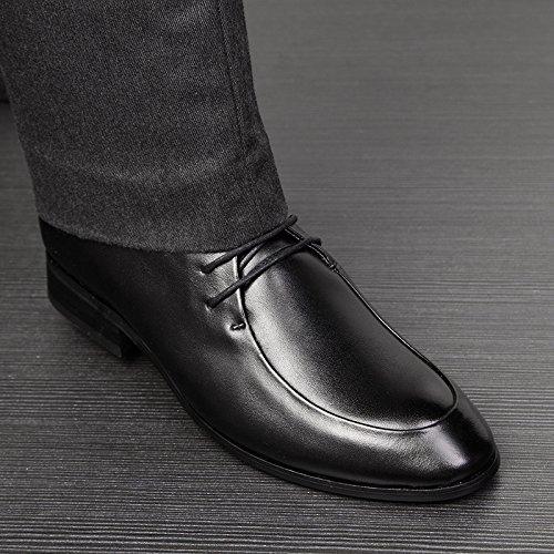 WZG Die neuen Herren-Anzügen atmungsaktive Leder Freizeitschuhe der britischen Männer spitze Schuhe Black