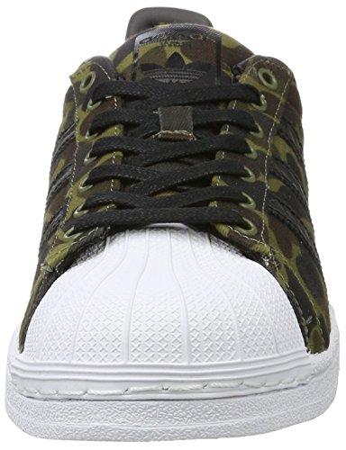 adidas Herren Superstar Sneakers Schwarz (Cblack/Cblack/Ftwwht)