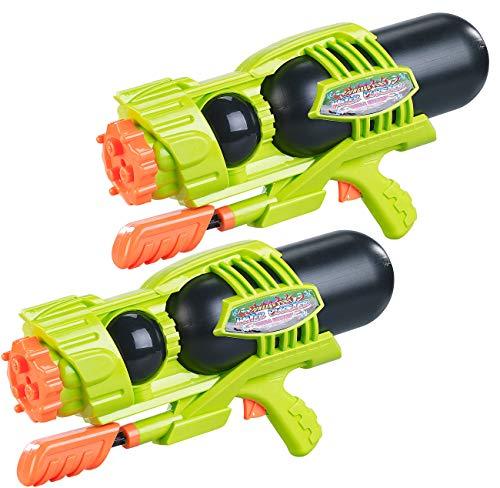 Speeron Badespielzeug: 2er-Set Kinder-XL-Wasserpistolen, 1.600-ml-Wassertank, 3 Strahlarten (Poolkanonen) Xl Wasser