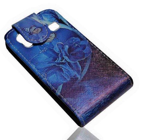 Handy Tasche Flip Style - Design No.6 - Cover Case Hülle Etui für Samsung S5830 Galaxy Ace