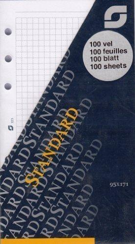 Succes Standard Notizpapier Kariert Weiß 100 Blatt A6 Terminplaner Einlage XT5