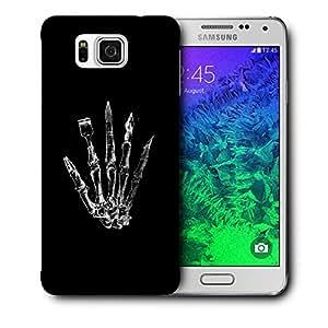 Snoogg Skeleton Hand Designer Protective Back Case Cover For Samsung Galaxy Alpha
