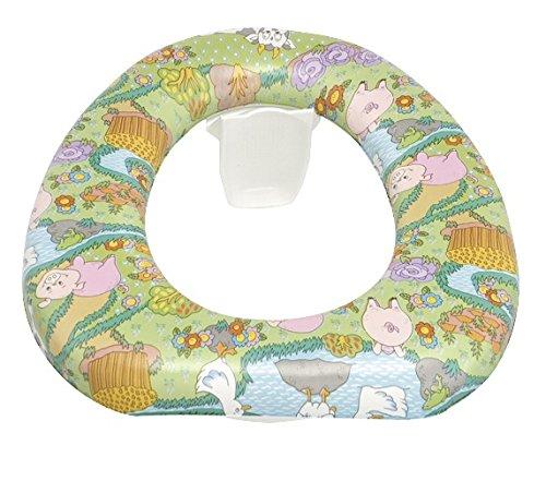 WENKO 921198100 Asiento tapa WC Baby soft – almohadillado, almohadilla neumática, resistente al desgarro, higiénico, Plástico, Multicolor
