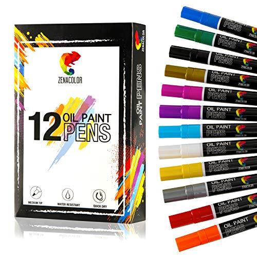 ⭐12 Rotuladores Permanentes Pintura Óleo - 12 Colores