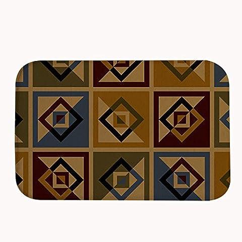 whiangfsoo Retro rayas alfombrilla de baño puerta esteras marrón color, #03, 20