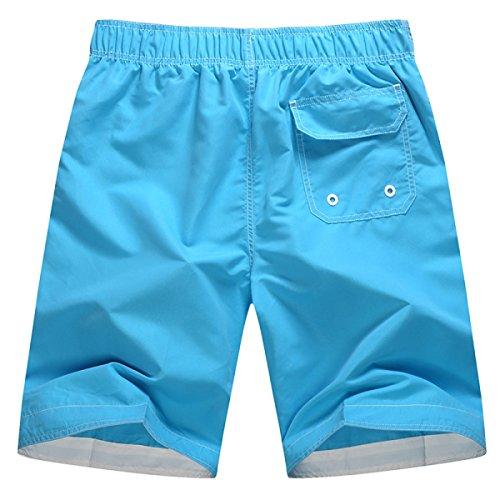 Des Hommes Quick Dry L'été La Plage La Plage Le Surf La Mode Les Loisirs Swim Trunk Option Multi-couleurs B