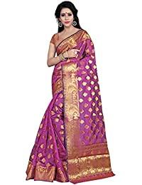 Silk Zone Women's Banarasi Silk Pink Silk Saree With Blouse Piece(NSILKZ00101_Pink_Free Size)