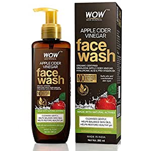WOW Skin Science Apple Cider Vinegar Face Wash - No Parabens, Sulphate, Silicones & Color (200mL)