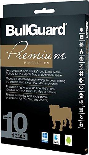 BullGuard Premium Protection 2017  1 Jahr/10 Geräte (Win, MAC, Android) -
