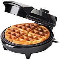 GLOBAL GOURMET - American Waffle Maker Iron Machine 700W I Electric I Stainless Steel Mould I Non-Stick Coating I Recipes I Deep Cooking Plates I Adjustable Temperature Control - Black
