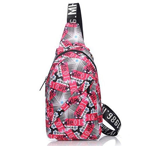 BULAGE Brustbeutel Männer Und Frauen Freizeit Sport Messenger Einfach Schulter Rucksack Praktisch Wasserdicht Haltbar Schön Personalisierte Pink