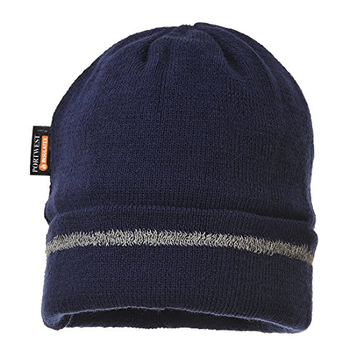 Portwest Workwear Reflective Trim Knit Hat Thinsulate® Lined - B023 - EU / UK Marine