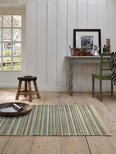 Esprit Teppich Samba Stripes flauschig, weich, handgefertigt in feiner Nadeltechnik (170 x 240 cm, Sand 03) Samba Stripe