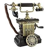 RMXMY Drehtelefon des amerikanischen antiken Hauptwohnzimmers, das dekorative Verzierungen der Retro-Büro-Festnetzweinlese verdrahtet ist