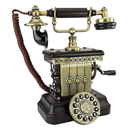 RMXMY Drehtelefon des amerikanischen antiken Hauptwohnzimmers, das dekorative Verzierungen der Retro-Büro-Festnetzweinlese verdrahtet ist (Schnurgebundenes Schnurloses Telefon Headset)