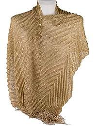 Amazonit Oro Stole Sciarpe E Stole Abbigliamento