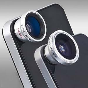 Kit d'objectifs 3 en 1 pour Samsung Galaxy S2/S3, i9300, i9220, i9100, HTC One X XL, Note, Ace