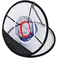 Alomejor Juego de Golf Target Net Golf Chipping Net Malla de Nylon Negra Plegable para una Mayor precisión y práctica de Swing Ideal para Todos los Niveles de Habilidad
