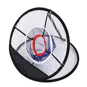 Alomejor Golf Chipping Net Nylon Mesh Golf Schlagen Netze Faltbares Training Golf Übungsnetz mit Tragetasche für Indoor…
