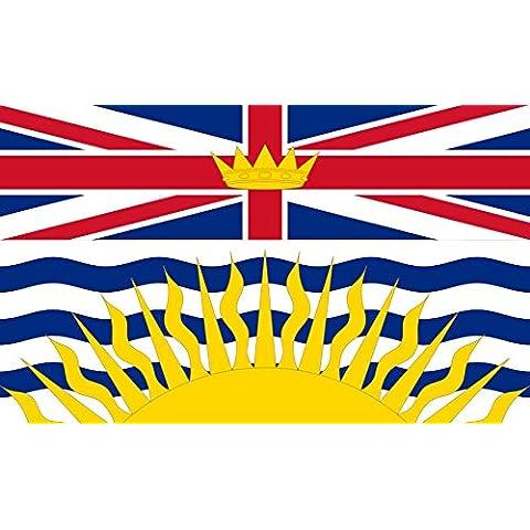 Columbia Britannica Bandiera 20x30cm per Diplomat-Flags Bandiere per Auto - Cappotto Britannico Di Armi