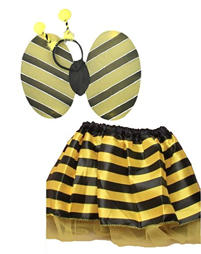 (Islander Fashions Kids Lady Vogel und Bumble Bee Tutu Rock und Wings Set M�dchen Party Zubeh�r Bumble Bee Set One Size)