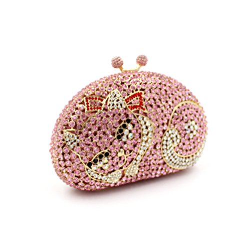 MOGOR, Poschette giorno donna medium, Grey (grigio) - ABC-330 Pink