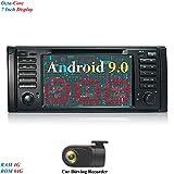 XISEDO Android 9.0 Autoradio 7 Zoll Bildschirm 8 Core RAM 4G ROM 64G Navi Moniceiver mit In Dash Car Radio GPS Navigation für BMW X5-E53/ BMW 5-E39 (mit DVR)