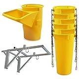 Profi Schuttrutsche Bauschuttrutsche Baurutsche 7 m, Set aus 6x Schuttrohr, Gestell und Einfülltrichter