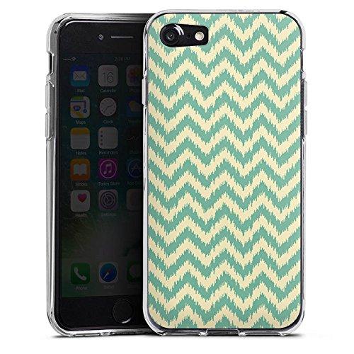 Apple iPhone X Silikon Hülle Case Schutzhülle Zickzack Muster Sommer Silikon Case transparent
