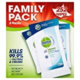 Dettol Anti-Bacterial Cleaning Surface Wipes, 252 Wipes