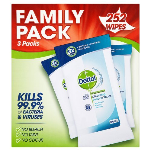 Dettol Anti-Bacterial Cleaning Surface Wipes, 252 Wipes 51cItm0gdAL