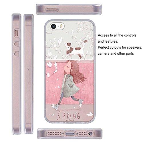 Coque Apple iPhone 5G 5S 5SE, Fubaoda 3D Gaufrer Esthétique Modèle Étui TPU silicone élégant et sobre pour Apple iPhone 5G 5S 5SE pic: 9