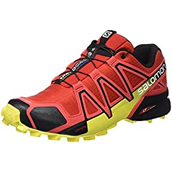 Salomon Speedcross 4 Zapatillas de Trail Running, Hombre, Rojo (Radiant Red/Black/Corona Yellow), 42 2/3 EU