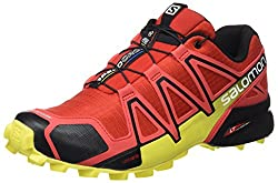 Salomon Men's Speedcross 4 Trail Running Shoes, Red (Radiant Redblackcorona Yellow), 12 Uk