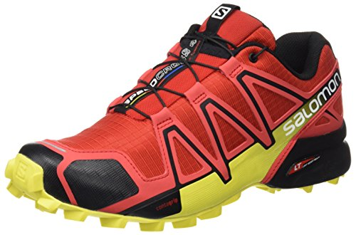 Salomon Zapatillas Speedcross 4 DE Trail Running para Hombre, Sintético/Textil, Rojo (Radiant Red/Black/Corona Yellow), 40