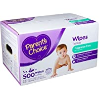Parents Choice Fragrance Free Baby Wipes, 500 sheets by Parents
