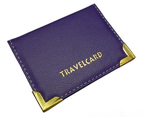 Porta carte di credito in pelle morbida da viaggio per carte di credito, Oyester by gnenterprises Purple