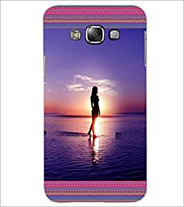 PrintDhaba Beach Girls D-4128 Back Case Cover for SAMSUNG GALAXY A7 (Multi-Coloured)