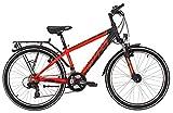 Kinderfahrrad 24 Zoll schwarz - Yazoo Devil 2.4 Jugendrad - Shimano Schaltung 21 Gänge, Licht, Gepäckträger
