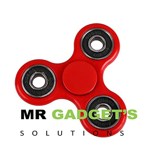 Tri Fidget Hand Finger Spinner Fumble Toy for Relieving Stress. (Red)