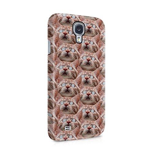 Rote Katze Diamond Eyes Pattern Dope Rich High Lush Life Dünne Rückschale aus Hartplastik für Samsung Galaxy S4 Handy Hülle Schutzhülle Slim Fit Case Cover -
