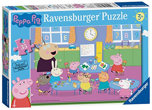Ravensburger peppa pig - classroom fun 35pc jigsaw puzzle