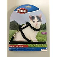 Trixie 4182 Set of Harness and Lead for Kittens / Small Cats Nylon 19 to 31 cm Long / 8 mm Wide ( Assorted Colours )