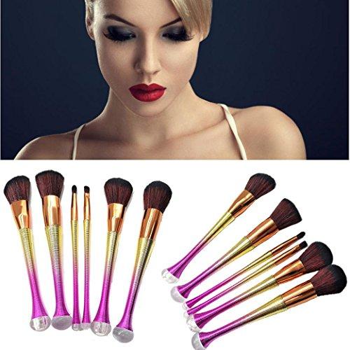 Beste Gesichts-stiftung (6PCS Pro Make-up Kosmetik Pinsel Set Powder Foundation Lidschatten Lippen Pinsel HKFV)